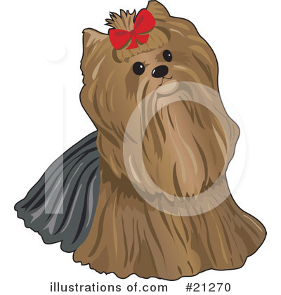 Yorkie Clipart  21270 By Maria Bell   Royalty Free  Rf  Stock