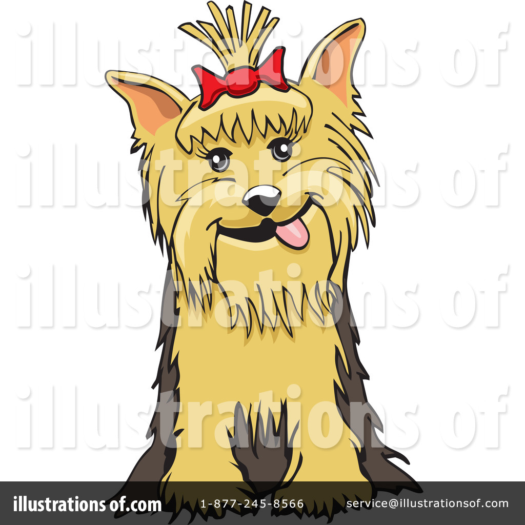 Yorkie Clipart  26505   Illustration By David Rey