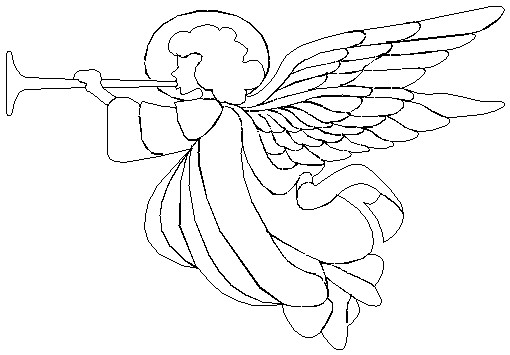 Religious Angel Black Clipart - Clipart Kid