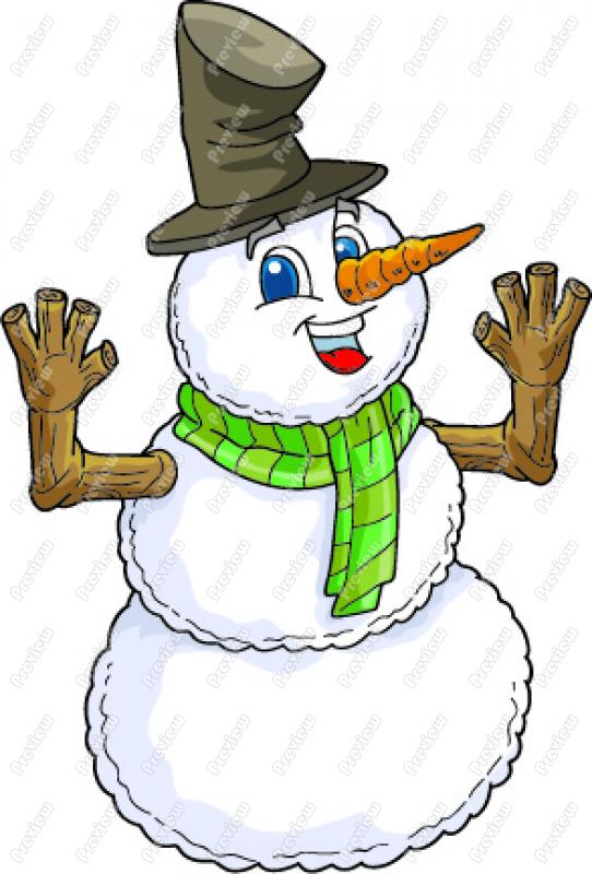 Small Country Snowman Clipart - Clipart Kid
