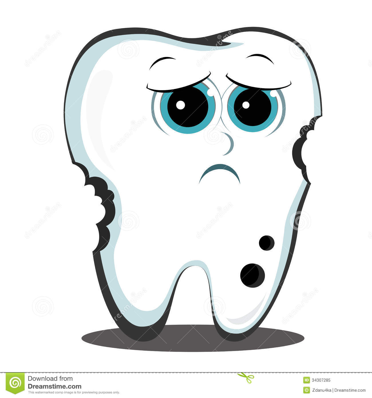 Sad Teeth Clip Art
