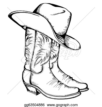 Boots And Hat Vector Graphic Illustration  Stock Clip Art Gg63504886
