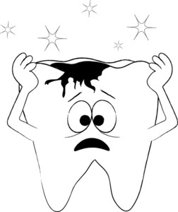 Cavity Clipart Coloring Page Of A Tooth In Pain From A Cavity With