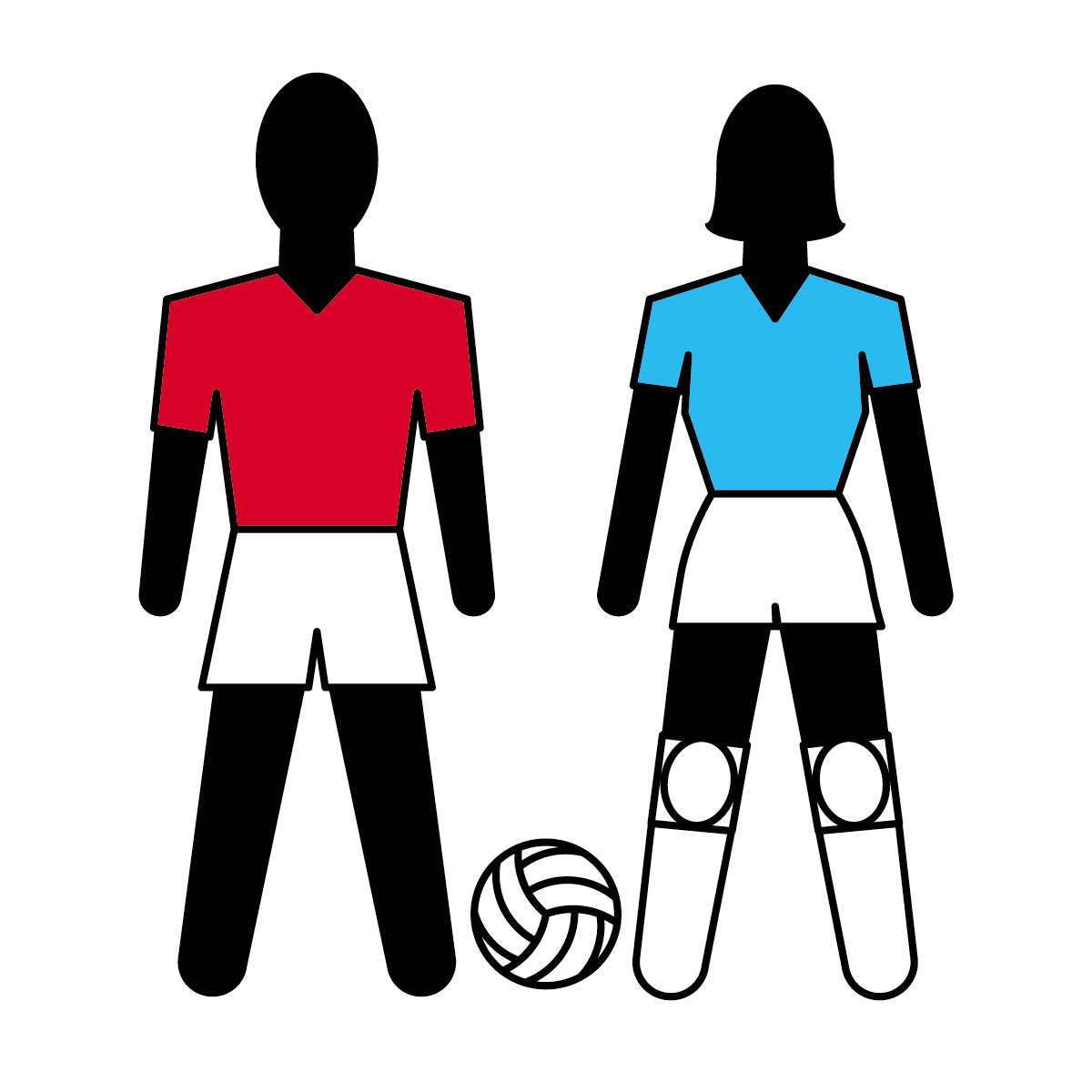 Clip Art  Athletes  Volleyball