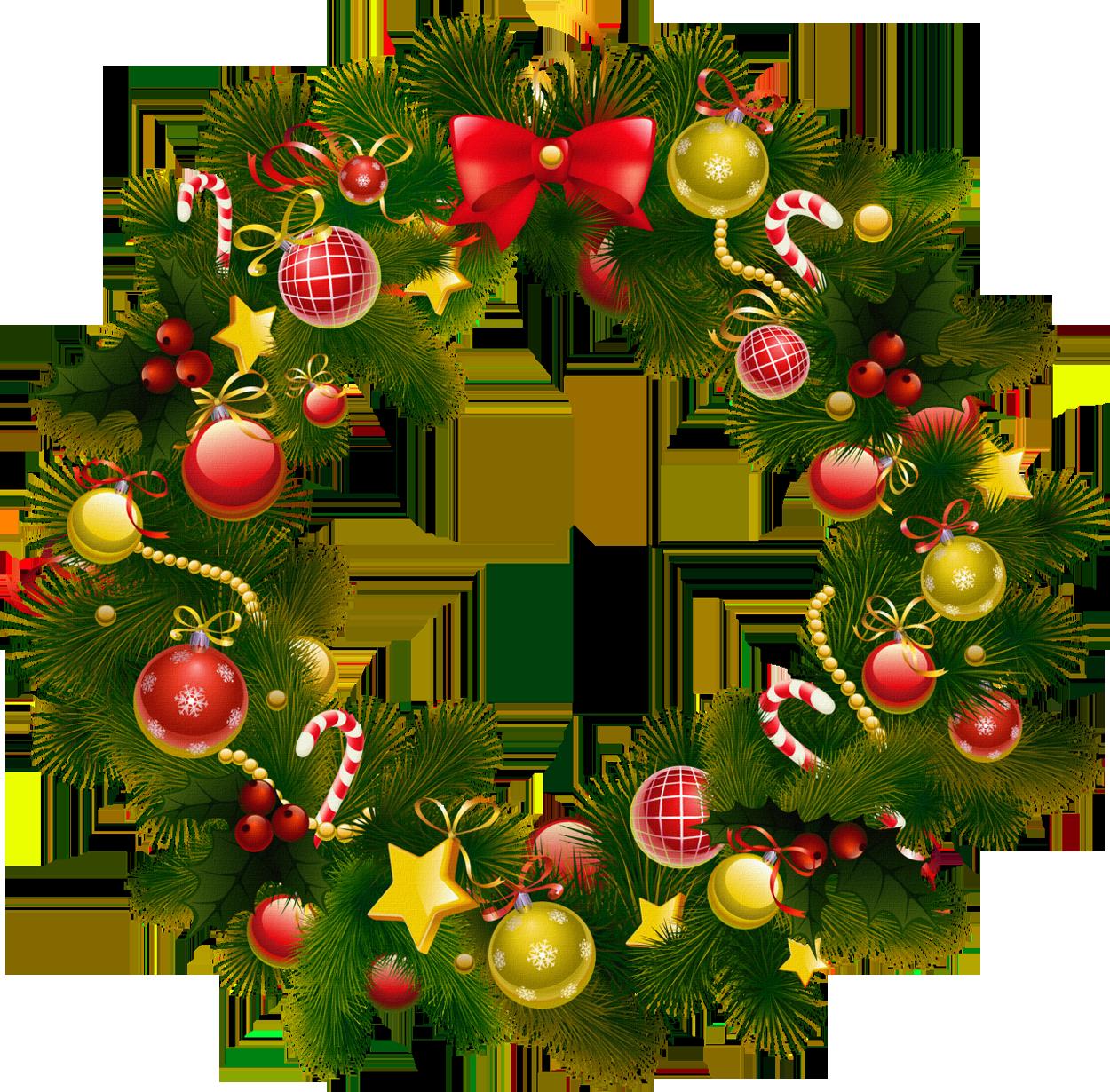 Christmas Wreath Clipart - Clipart Kid