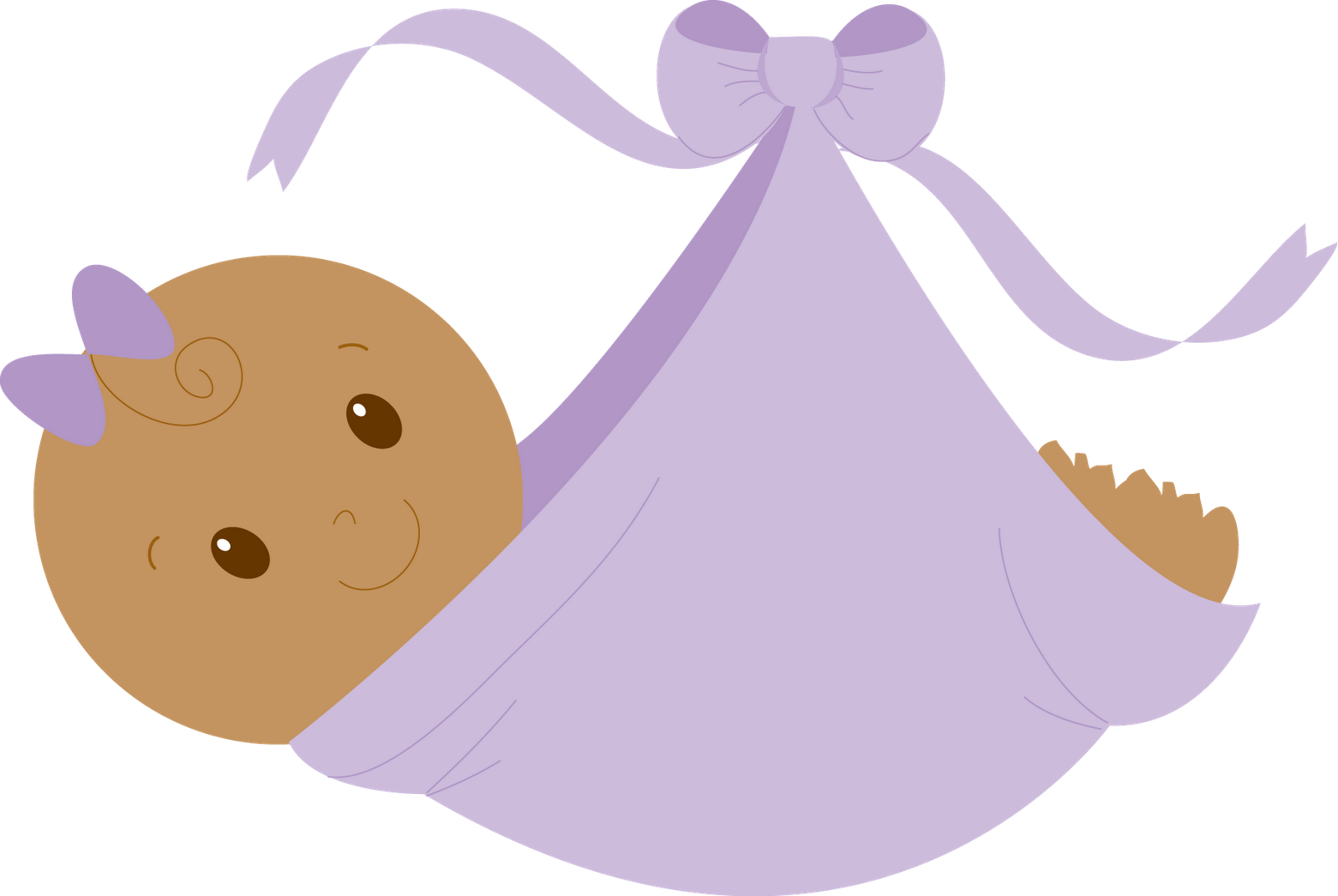 Purple Baby Girl Clipart - Clipart Suggest