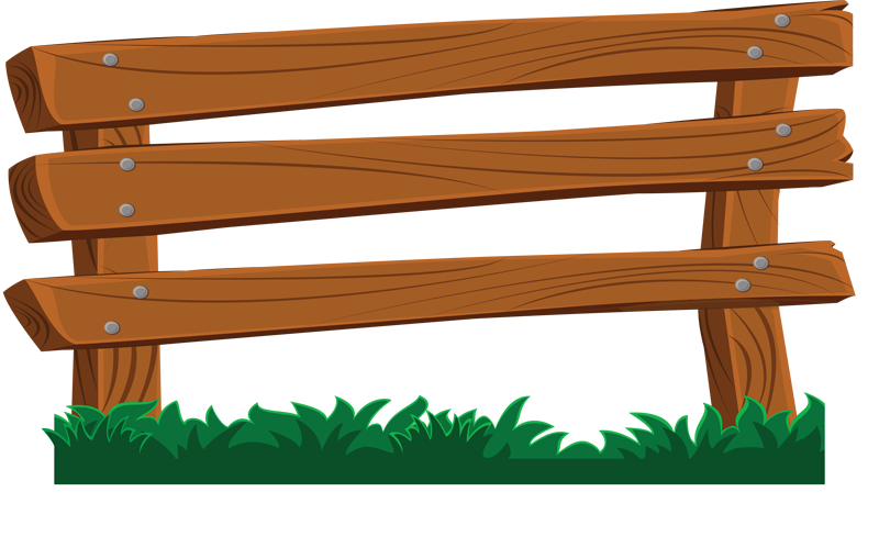 Wood fence clipart suggest