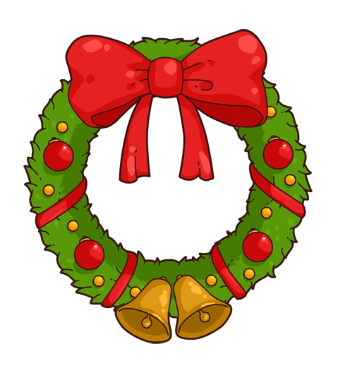 Xmas wreath clipart clipart suggest for Christmas images paintings