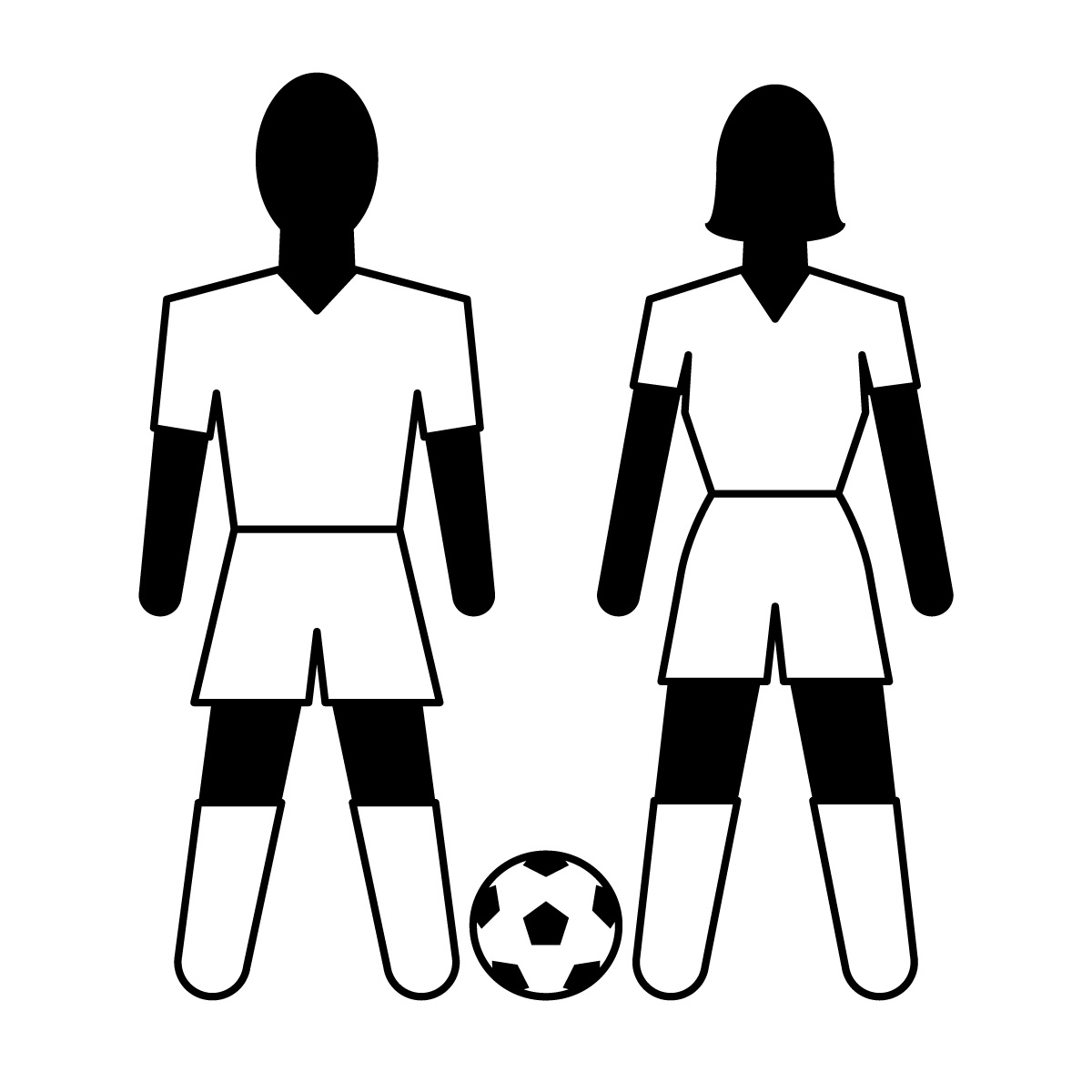 Free Clip Art Images Icons Clip Art Athletes Soccer Bw Abcteach Image