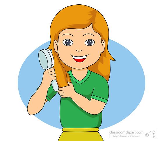 Boy Brushing Hair Clipart - Clipart Kid