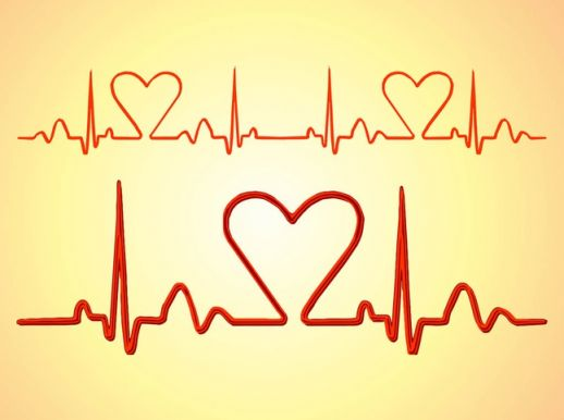 Heartbeat Lines Vector   Ai Pdf   Free Graphics Download