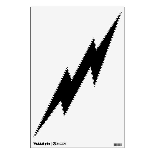 Lightning Bolt Black And White Clipart - Clipart Kid