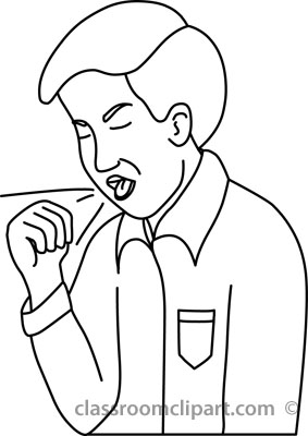 Coughing Clipart - Clipart Kid