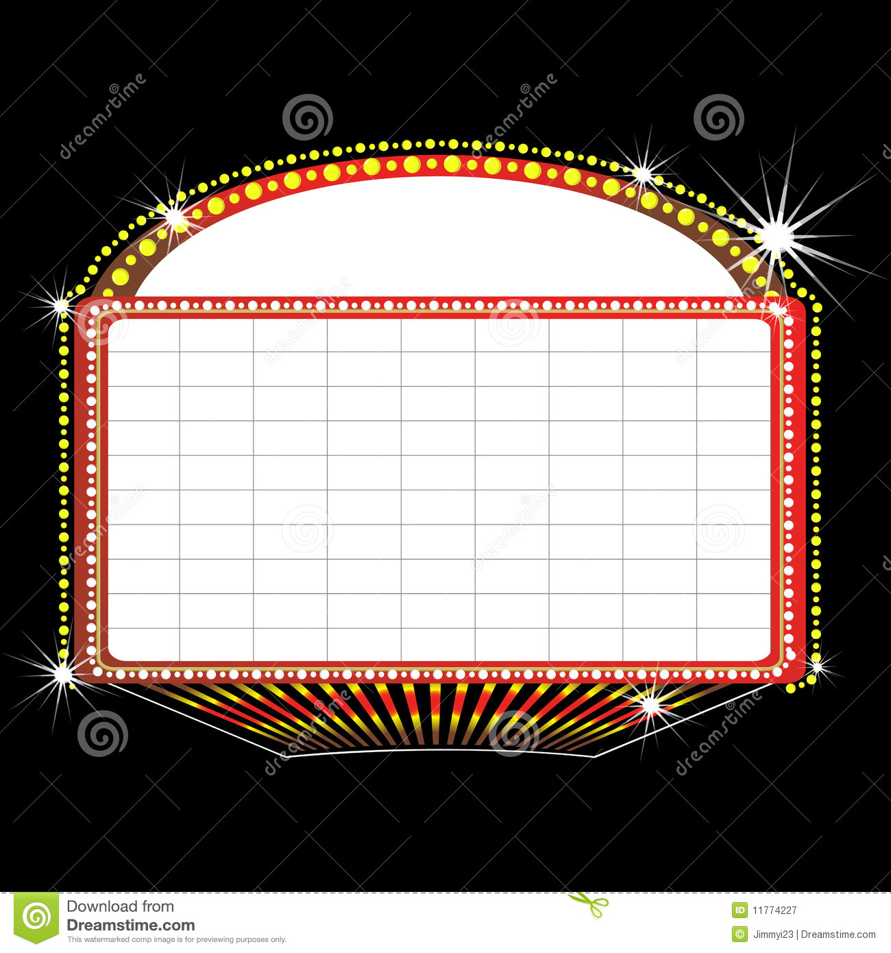 Royalty Free Stock Photography  Theater Marquee Sign