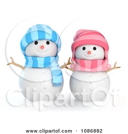 Cute Snowman Border