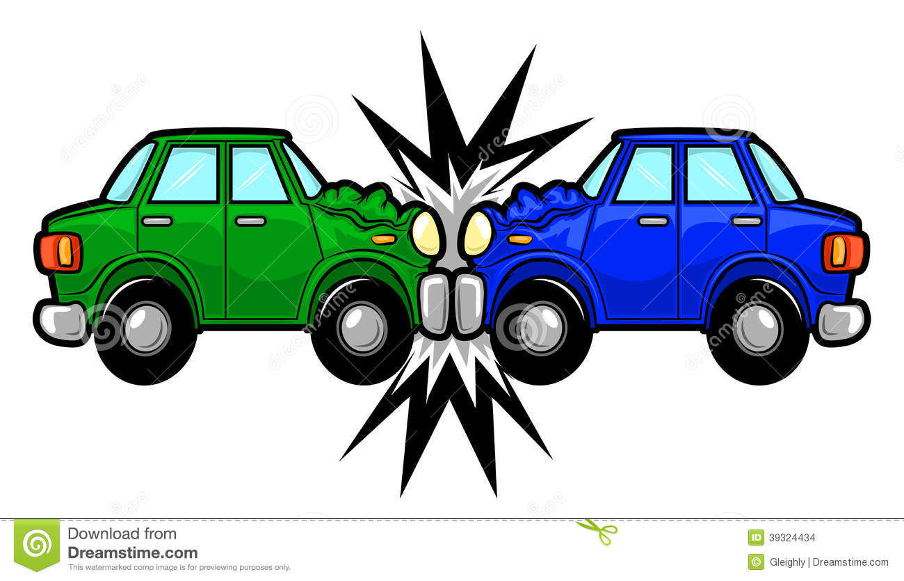 Stock Vector  Car Accident Cartoon