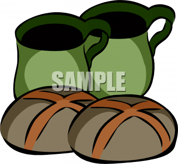 Tea And Hot Cross Buns Clipart Picture   Foodclipart Com