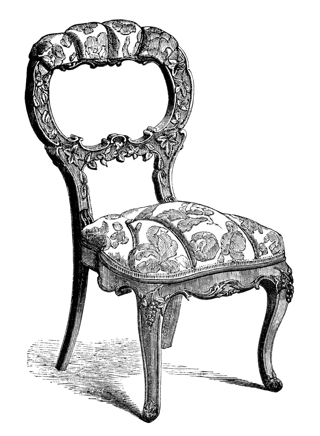 Chair Clip Art Antique Furniture