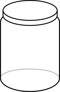 White Jar Clip Art At Clker Com   Vector Clip Art Online Royalty Free