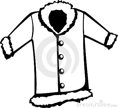 Clip Art Black And White Winter Coat Clipart - Clipart Kid