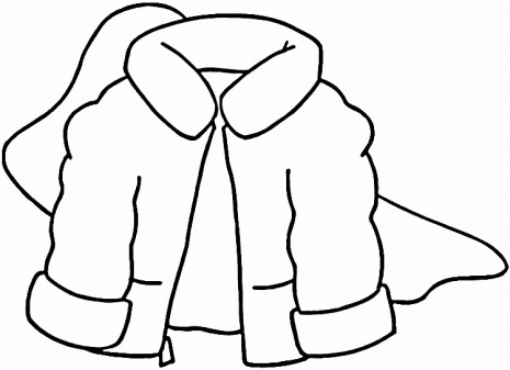 Winter Coat Coloring Page Super Coloring