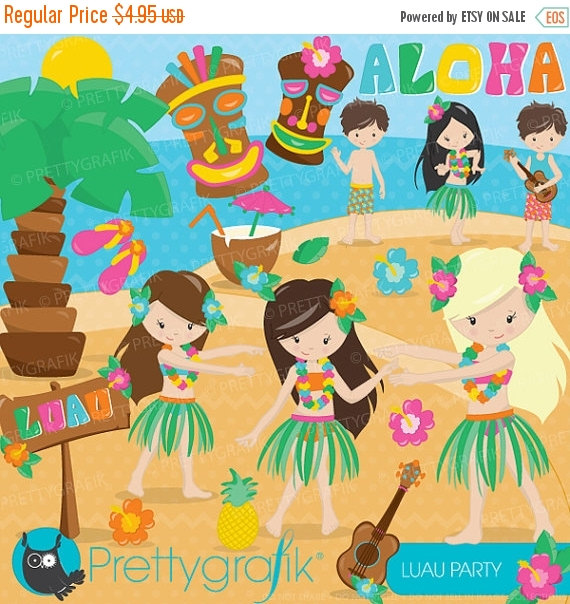 80  Off Sale Luau Party Clipart Commercial Use Vector Graphics