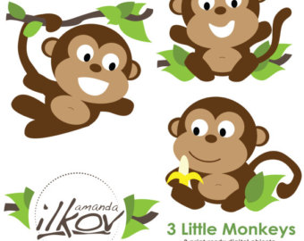 Monkey Baby Shower Clipart - Clipart Kid