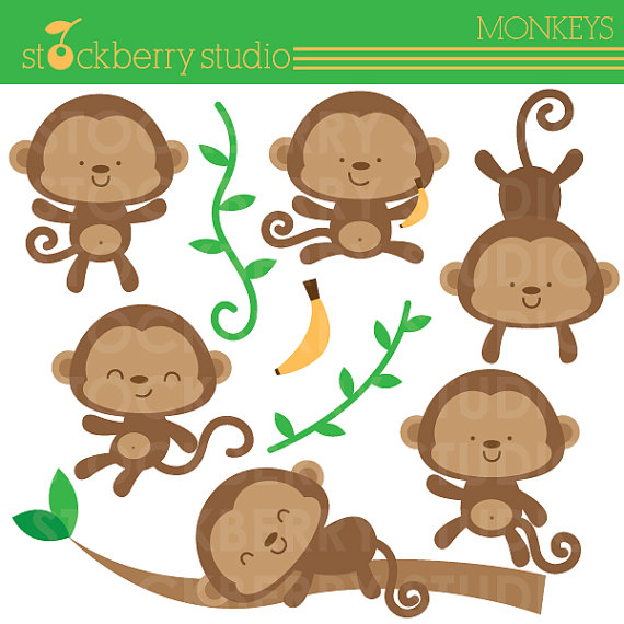 Monkey baby shower clipart clipart suggest - Baby shower monkey pictures ...
