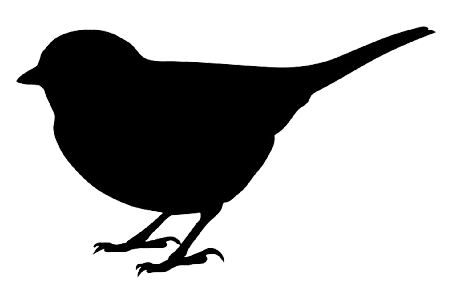 Flying Bird Silhouette Clipart - Clipart Kid