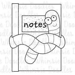 Book Worm Clipart Black And White