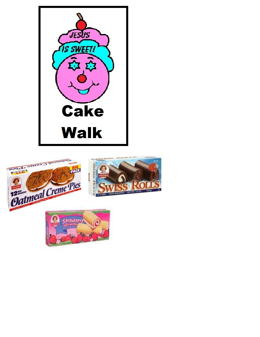 Cake Walk Template For Jar  Printable Version