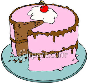 Cherry And Chocolate Cake   Royalty Free Clipart Picture