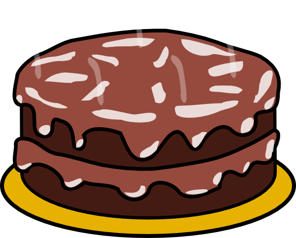 Chocolate And Chocolate Cake Clip Art At Clker Com   Vector Clip Art