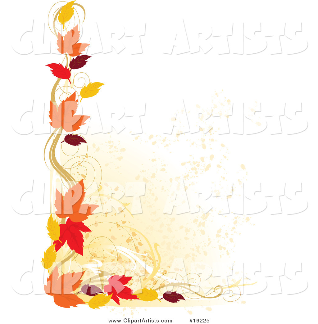 Fall Leaves Corner Clipart - Clipart Suggest