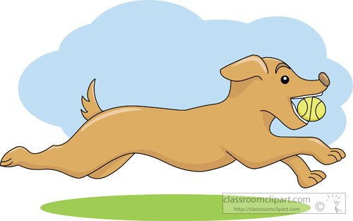 Dog Clipart   Dog With Ball In Mouth   Classroom Clipart