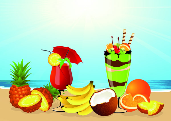 File Name   Tropical Beach Scene With Drinks Jpg Resolution   600 X