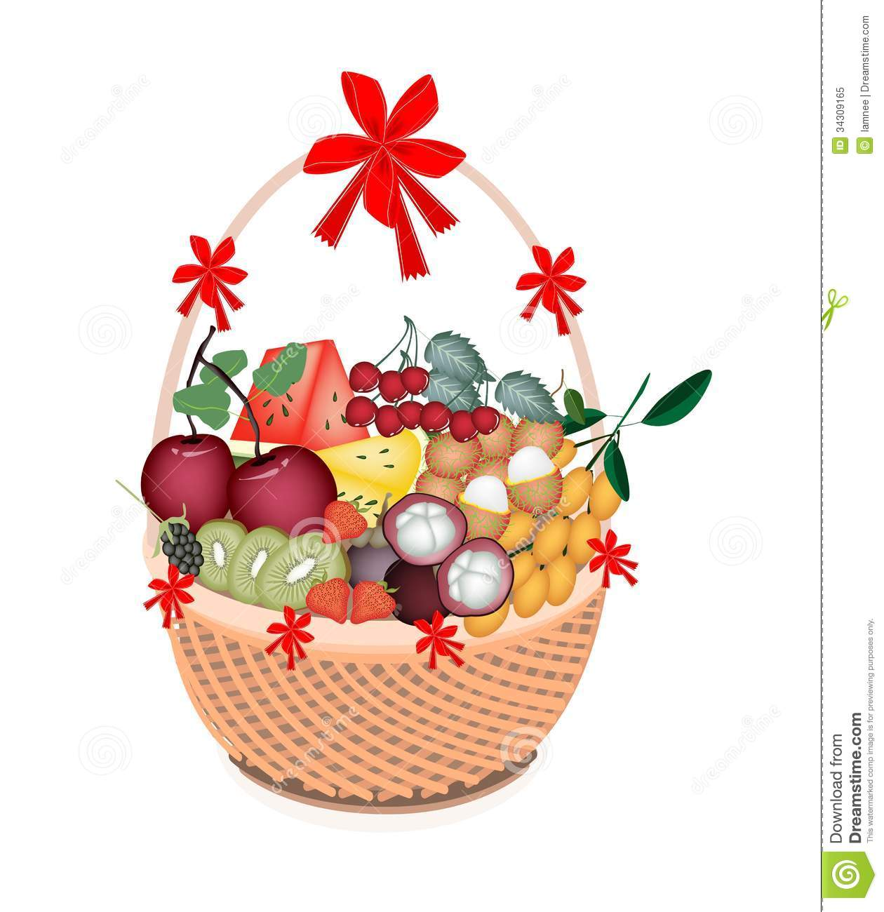 Clip Art Christmas Basket : Gift basket cartoon clipart suggest