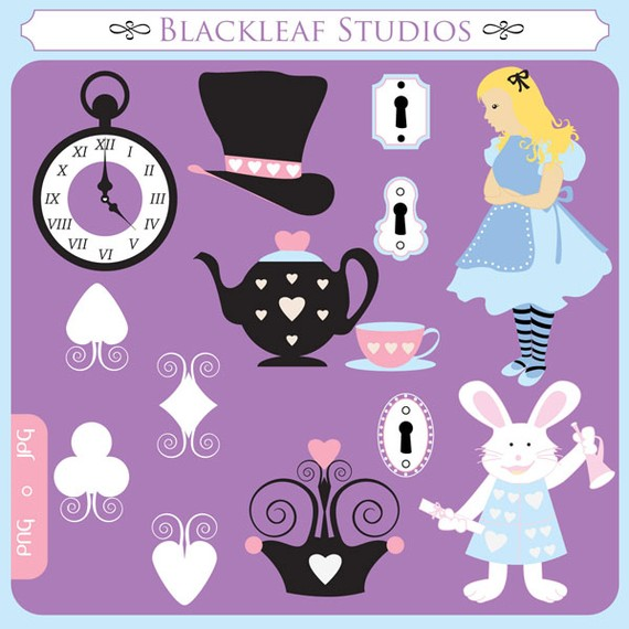 Hearts Tea Party Tea Pot Cups   Personal And Commercial Clipart