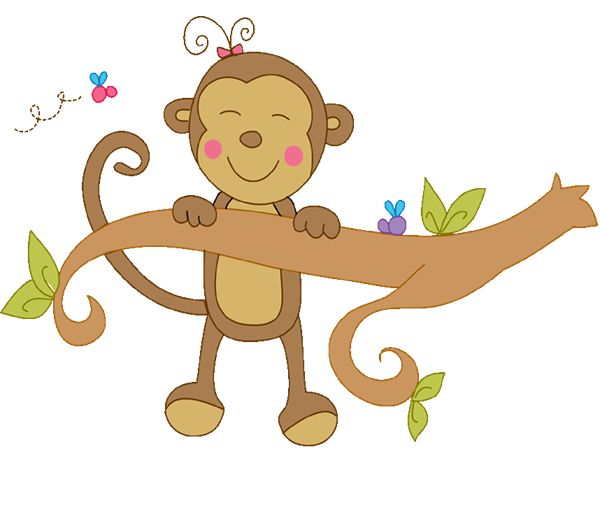 Monkeys Monkeys Hanging Hanging Clipart Trees Limb Baby Shower