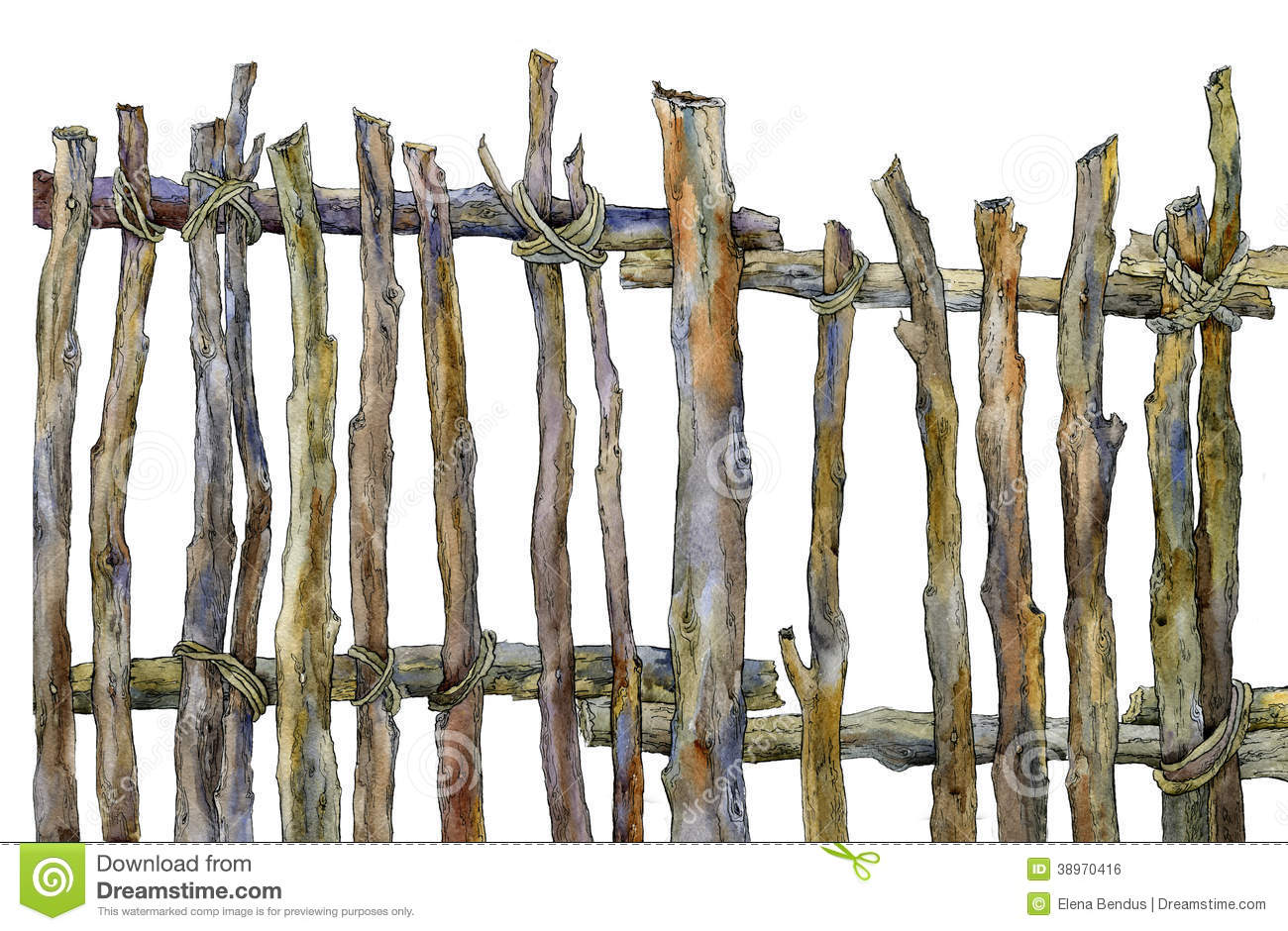 Old Fence Of The Ranch Stock Illustration   Image  38970416