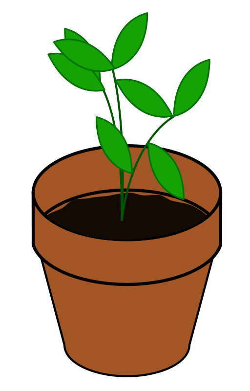 Plant Flower Clipart Png 94 43 Kb Plant In Pot Flower Clipart Png 36