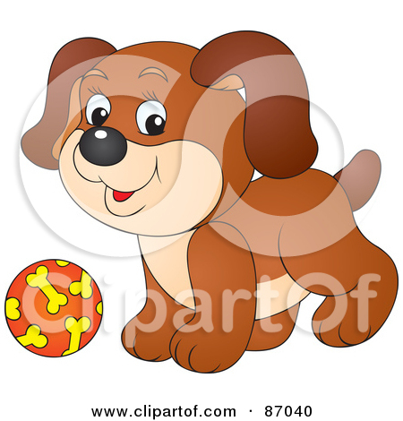 Royalty Free  Rf  Dog Ball Clipart   Illustrations  1