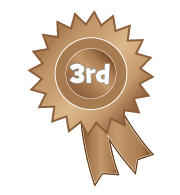 1st 2nd 3rd Place Clipart 3rd Place Rosette Clipart 01