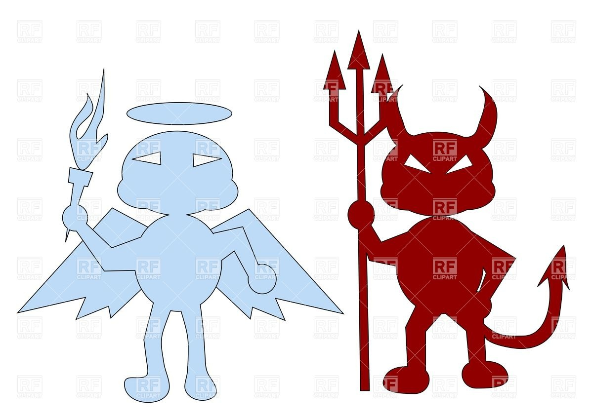 Angel And A Red Devil Download Royalty Free Vector Clipart  Eps