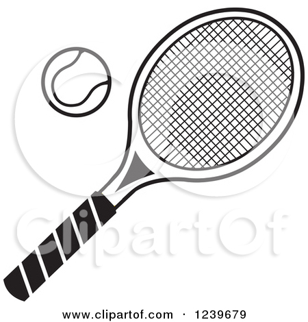 Tennis Black And White Clipart - Clipart Kid