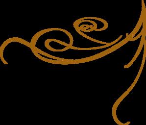 Decorative Swirl Gold Clip Art At Clker Com   Vector Clip Art Online