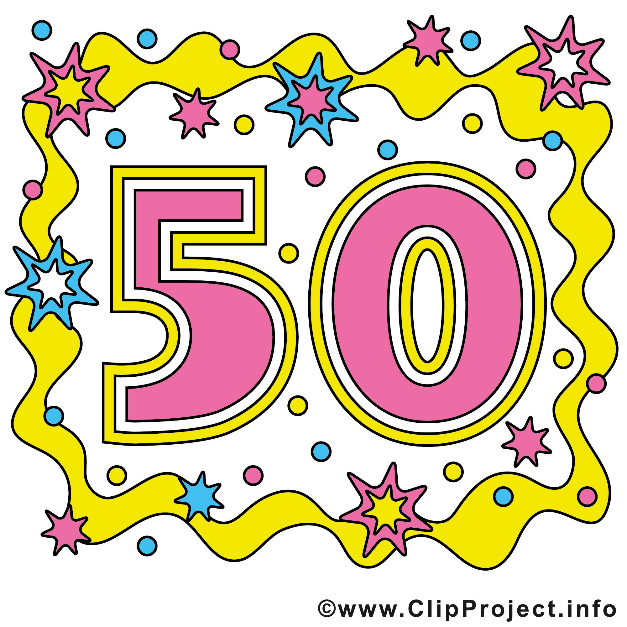 cliparts kostenlos geburtstag 50 - photo #2