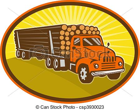 Log Truck Drawings Drawings Of Vintage Logging Truck   Illustration Of