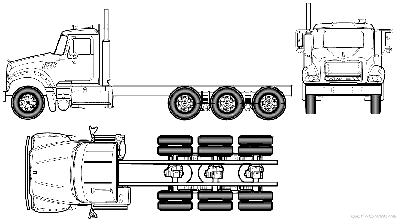 Log Truck Drawings The Blueprints Com   Blueprints   Trucks   Mack