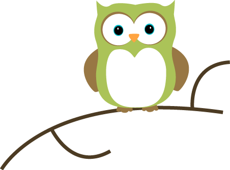 Owl On A Branch Clip Art   Owl On A Branch Image